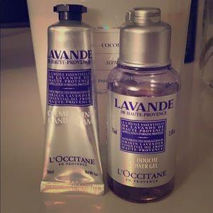 Loccitane Lavender Shower Gel & Hand Cream